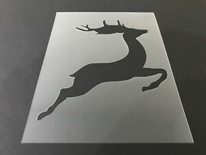 Reindeer-2-Stencil-10mm-or-7mm-Thick-Hunting-Christmas-Crafts-Santa-Snow