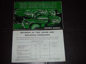 1968 chevrolet impala ss gm factory original owners manual printed rh ebay com 2016 Impala SS 64 Impala SS