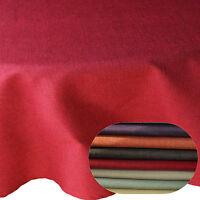 Tischdecke Leinen Optik Oval Farbe und Größe wählbar mit Lotus Effekt