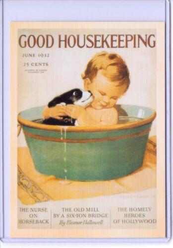 Vintage Repro Good Housekeeping magazine 1932 Publicité reproduction carte postale