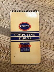 Details about Vintage Computing Table Calculator - LEHIGH - Cement Gravel  Concrete -F2