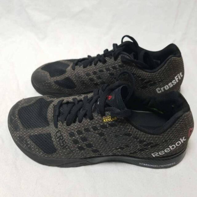 Reebok Mens Crossfit Nano 5.0 Training Shoes Gray Black V67608 Lace Up Low Top 9