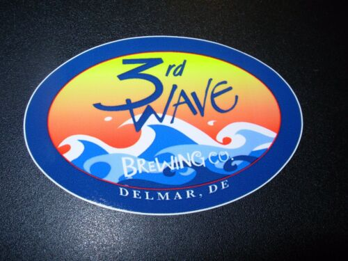3RD WAVE third BREWING COMPANY Delaware STICKER decal craft beer brewery