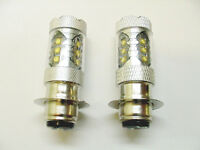 Fits Suzuki 80w Super White Led Headlight Bulbs 1997 98 99 King Quad 250 300 Atv