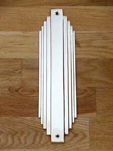 10 x cast brass art deco finger plates push fingerplate. Black Bedroom Furniture Sets. Home Design Ideas