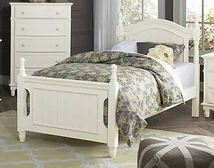 Details about LOVELY CLASSIC WHITE YOUTH\'S TWIN BED BEDROOM FURNITURE