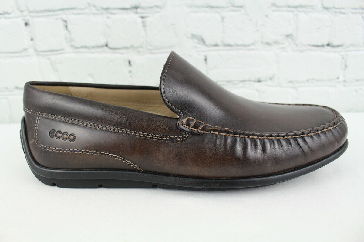 Ecco Mens Brown Leather Driving Loafer Size 42 (US 8-8.5)