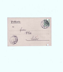 Postkarte-Ganzsache-Deutsches-Reich-gelaufen-1905-von-Hannover-nach-Luechow