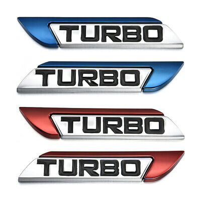 Metal 3D Car Stickers Decal Fender Body Turbo Logo Emblem Badge Stickers Decor