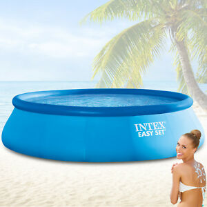 intex 457x122 schwimmbecken swimming pool schwimmbad quick up swimmingpool easy ebay. Black Bedroom Furniture Sets. Home Design Ideas