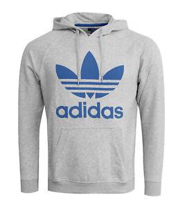 Adidas D Origine pour Homme Trèfle Sweat à Capuche Pull Manche ... db94ae60a1af
