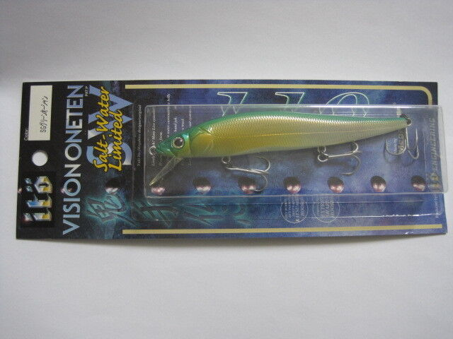 Megabass ITO VISION ONE TEN 110 SW SG GREEN OCEAN color 2000 NIP Straight eye
