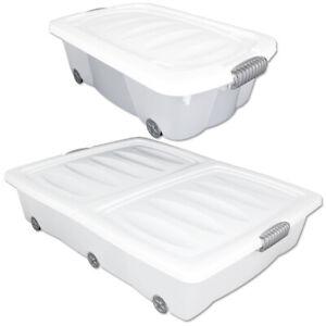 Unterbettkommode-Plastikbox-Unterbettbox-Truhe-Kiste-Box-Rollbox-Container-Bett