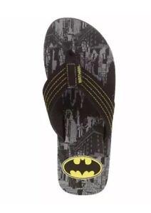 cac4fa64e3ae Image is loading Men-039-s-License-Batman-Flip-Flops-Large-