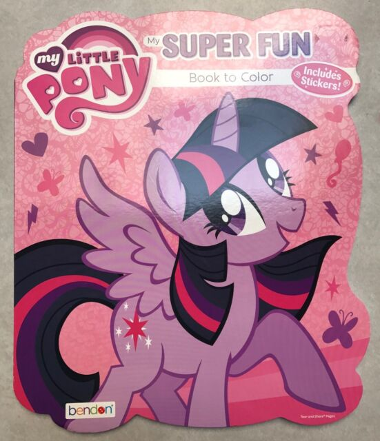 My Little Pony Book To Color Coloring Activity Stickers NEW MLP Large Book  Gift EBay
