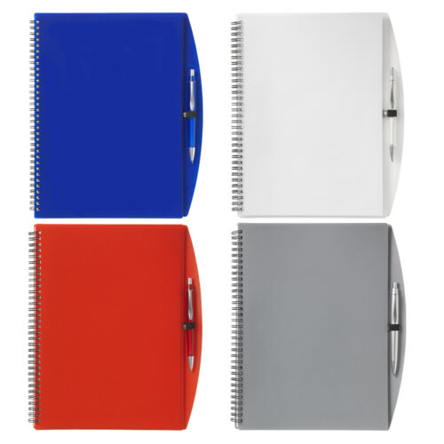 Spiral Bound A4 Lined Rule Notebook Ballpoint Pen Stationery Set Notepad Journal