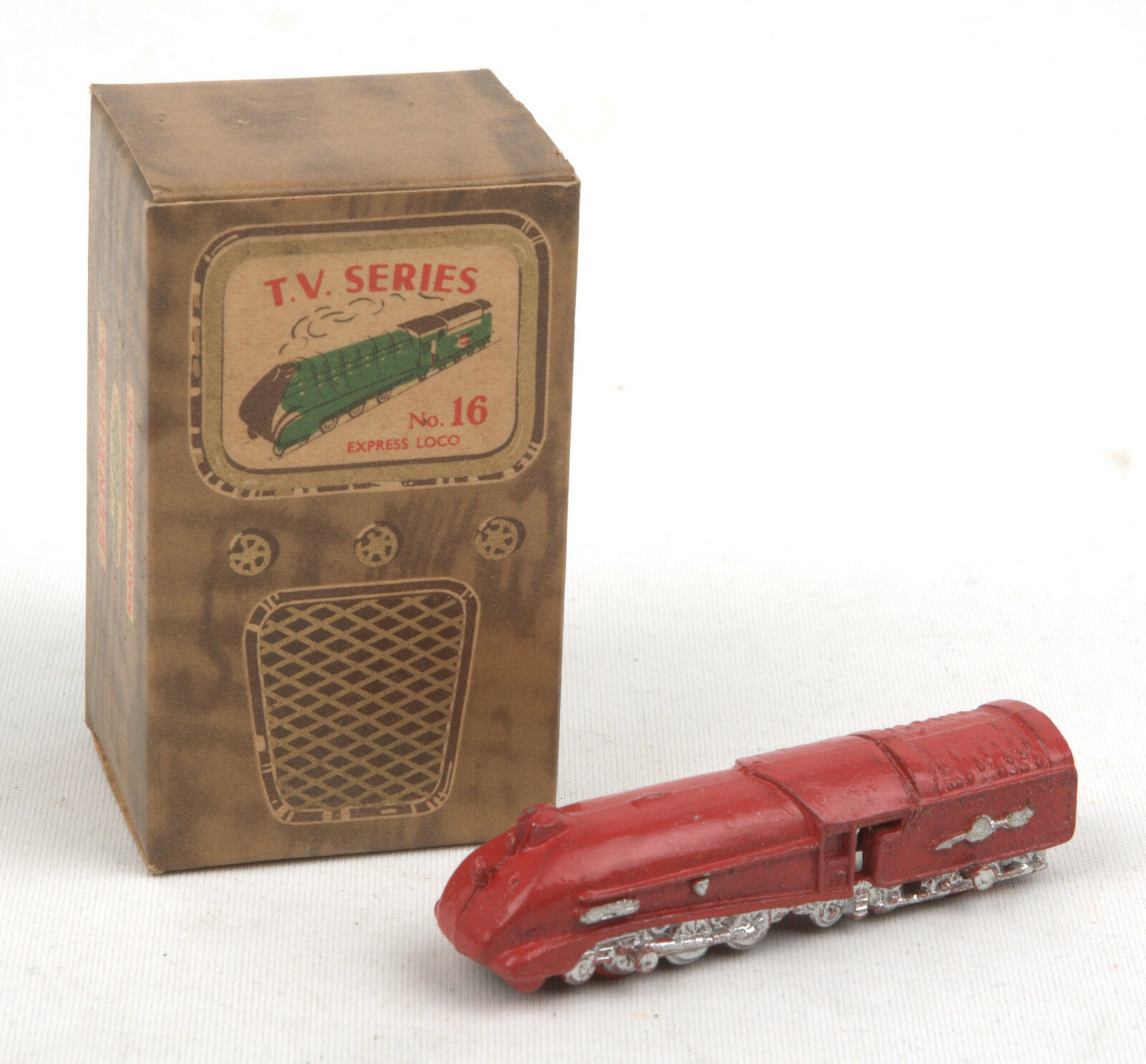 Vintage Benbros T.V Series No.16 Red Streamlined Express Loco BOXED