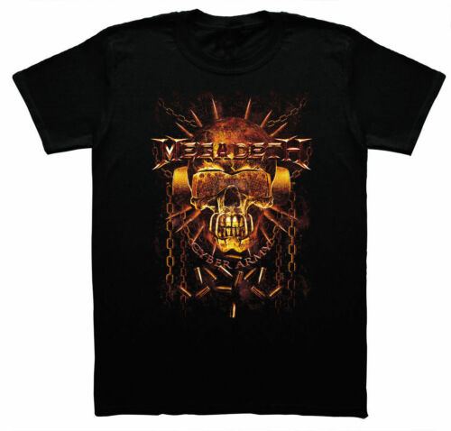 MEGADETH Cyber Army unisex T Shirt black man woman gift music band cool