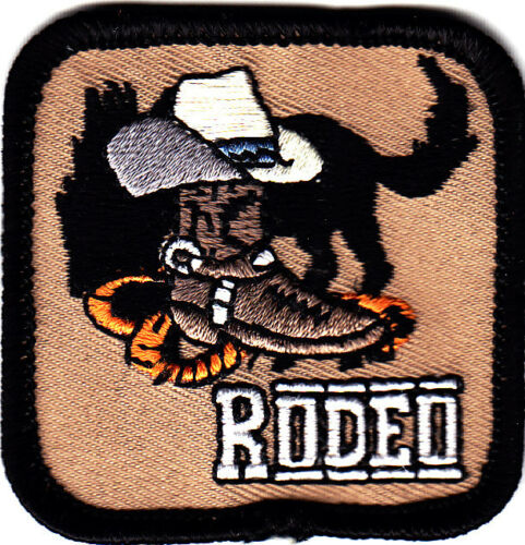 RODEO Iron On Patch Southwest Western