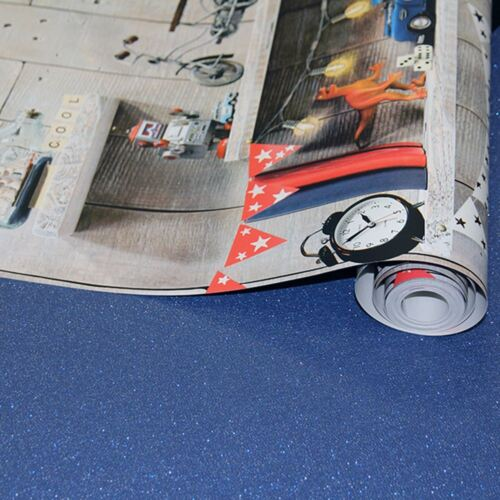 696000 Robot Voiture Vélo Arthouse Garçons vie Bookshelf Papier Peint