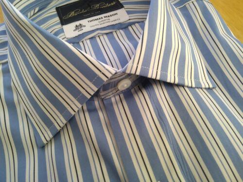 NWT Brooks Brothers Golden Fleece White Blue Stripe Regent Spread MSRP $225