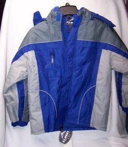 a3019e0d29e6 Climate Concepts Boys  Color Block Fleece Lined Hooded Jacket COAT ...