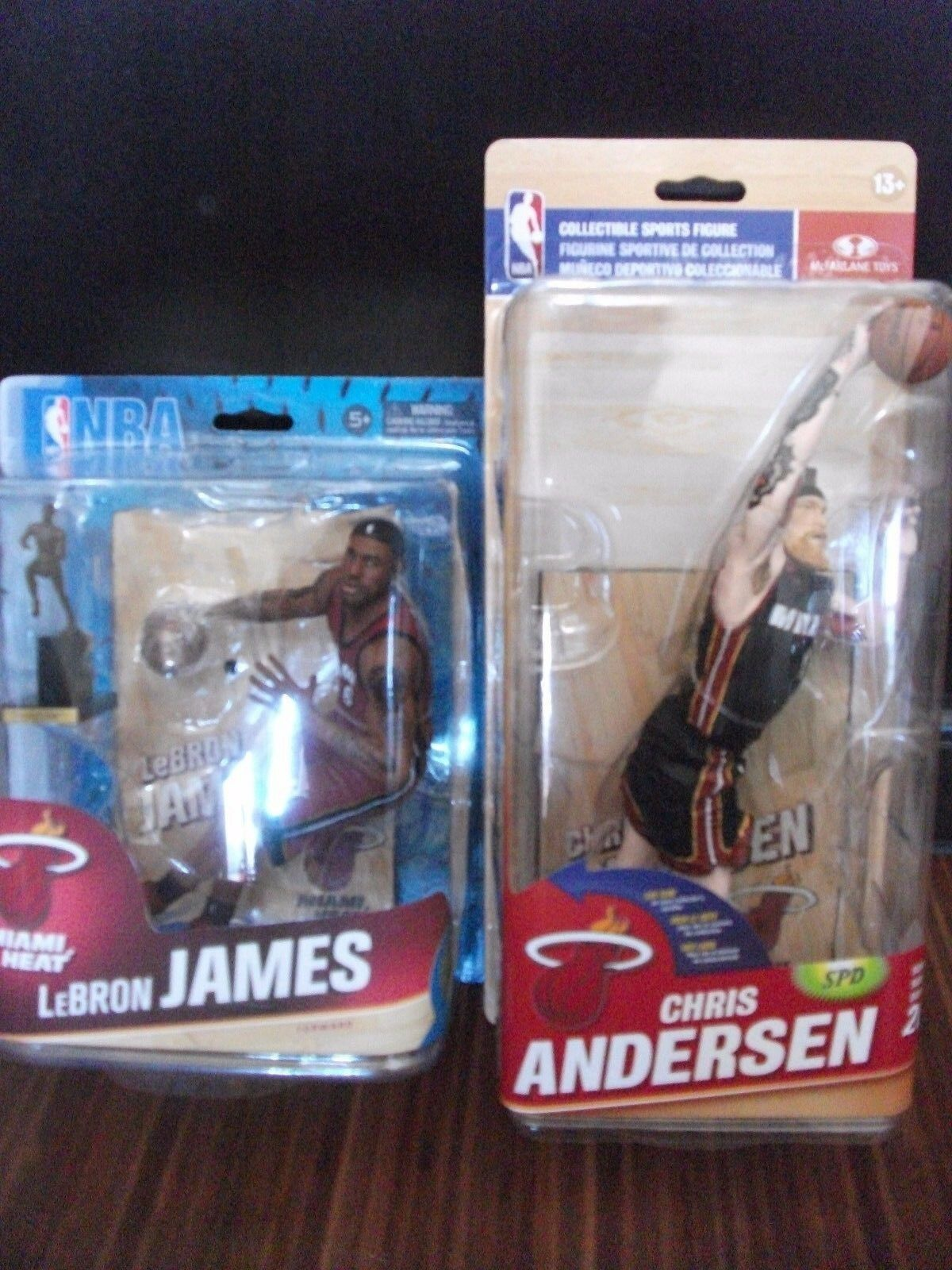 Mcfarlane Lebron James with Trophy S24 & Chris Andersen S26