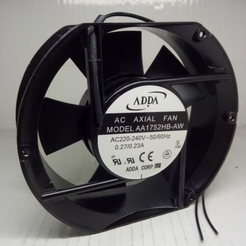 Original ADDA Axial flow fan AA1752HB-AW AC 220V 0.27A 2-wire Cooling Fan
