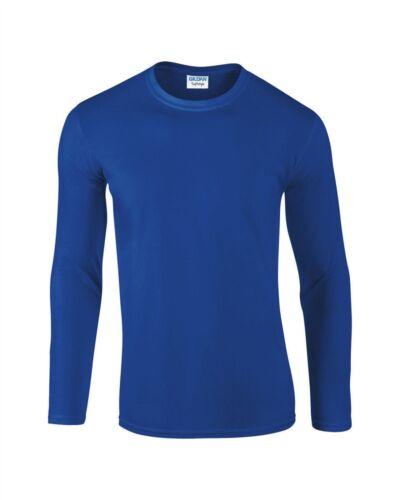 GD011 Gildan Softstyle Long Sleeve Mens Womens T Shirt Plain Top Casual T-Shirt