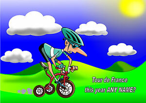 Personalised Cyclist Bicycle Tour De France Birthday Any Occasion Card Ebay