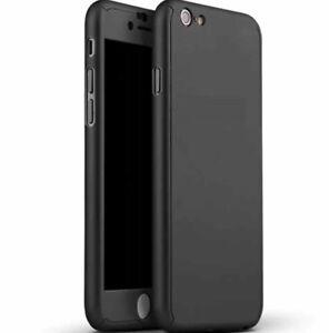 IPhone-7-Vorder-und-Rueckseite-versehen-Gehaeuse-Case-mit-Glas-Schirm-schwarz-Huelle