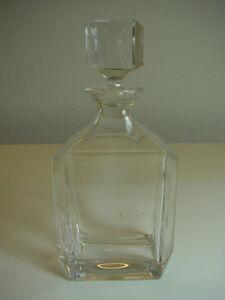Bleikristall-Flasche-Kristallflasche-Whiskyflasche-Spirituosen-Glasflasche