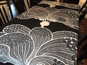 IKEA-Fabric-Cilla-Ramneck-2008-Black-amp-White-2-3-4-Yard-RF504