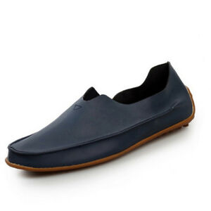 5ca59f25ca4 Men Slip On PU Leather Loafer Driving Moccasin Casual Flat Boat ...
