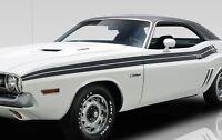 1971 Dodge Challenger R/t Side Stripes Kit Decal Mopar 71 matt Black