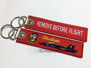 US NAVY Blue Angels Fighter Aviation Embroidered Key Chain keyrings ... b6fc106fc