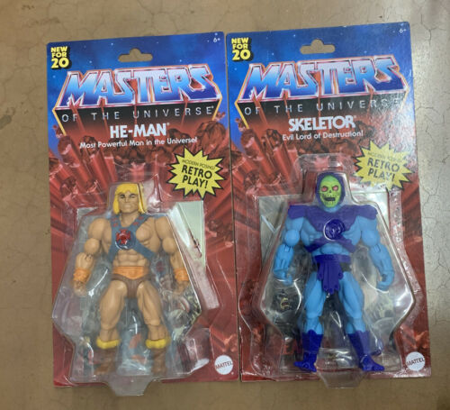 2020 Masters of the Universe Origins squelettor//HE-MAN Walmart Exclusive