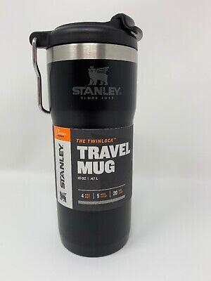 Stanley Classic Twinlock Travel Mug 16 oz Black BPA FREE Car Truck hot cold NEW | eBay