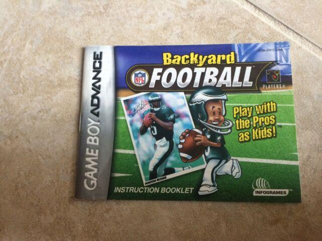 Backyard Football NFL Manual Nintendo Gameboy Advance GBA ...