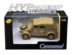 Spur 0 grau NEU 1:43 Cararama  4-90740  VW Kübel Typ 82 EDW