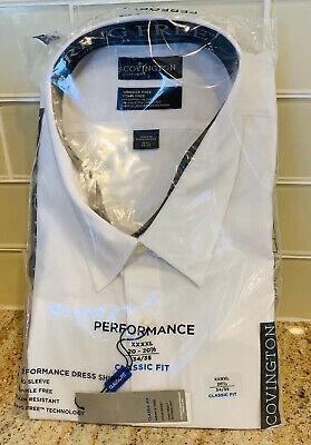 Covington Mens Classic Fit Performance Dress Shirt Size XL 17-17.5 34//35 Black