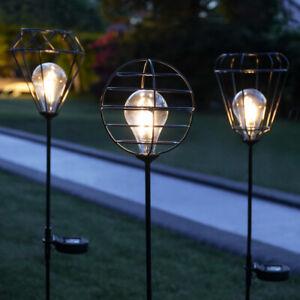 Solar-Power-Festoon-LED-Garden-Path-Stake-Light-Cage-Outdoor-Decoration