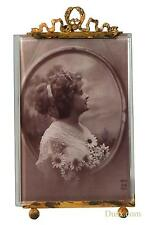 DUSX Antique Style Metal & Bevelled Glass Gold Picture Photo Frame 11 x 19.5cm