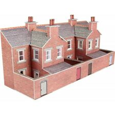 Metcalfe PN176 N Scale Low Relief Red Brick Terraced House Backs
