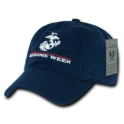 Navy Blue Marine Week Cleveland 2012 Marines Baseball Ball Cap Caps Hat Hats