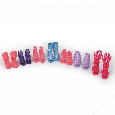 7 Pairs of Barbie High Heel Shoes for Barbie Dolls Clothe Accessories New