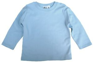 SALE-ITEM-5-pack-of-Baby-Long-Sleeve-Cotton-Tops-in-Blue-Size-12-18-Months