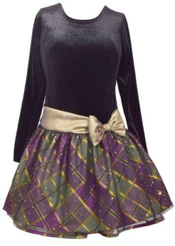 Mädchenkleid Weihnachtskleid 104,116,128,140,152,170 Samt-Petticoatkleid