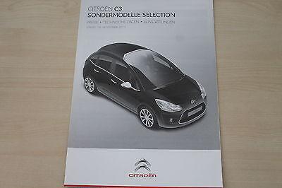 Prospekt 11/2011 Senility VerzöGern Citroen C3 Selection Preise & Extras 172232