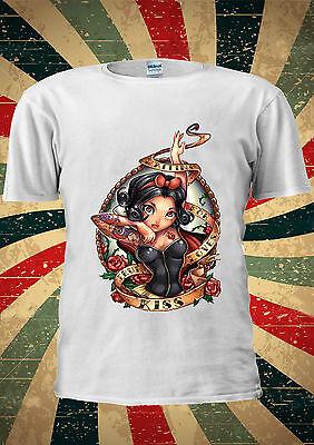 Disney Princess Snow White Seven Dwarf T Shirt Vest Top Men Women Unisex 128